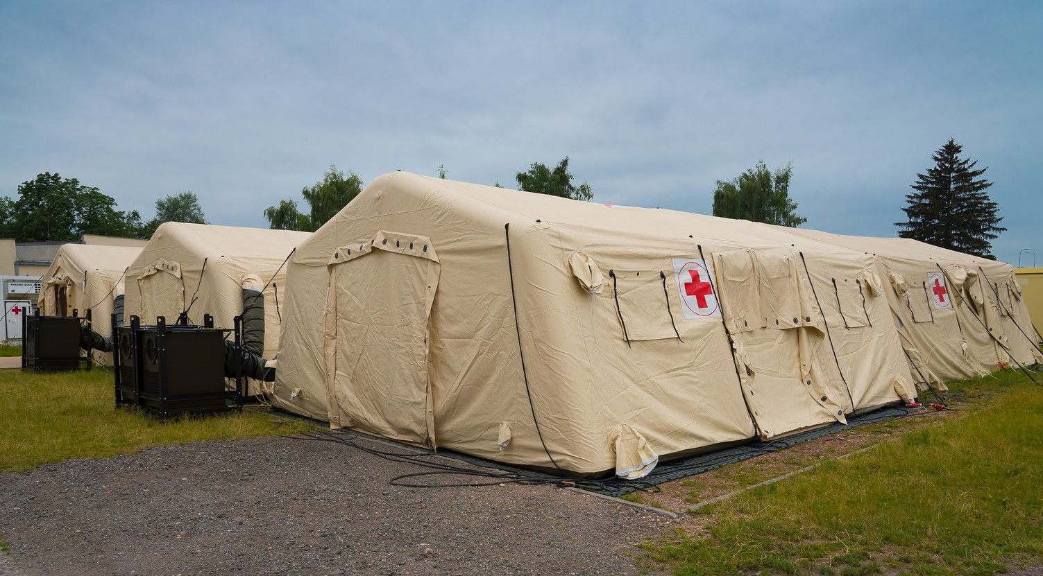 Packaging of Field Hospital Tents & Equipments